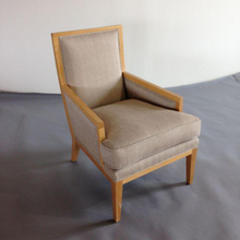 Upholstered Tan Club Chairs - A Pair
