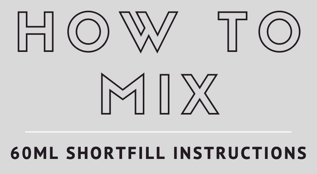 Infographic: How To Mix 60ml ELiquid Shortfill Instructions