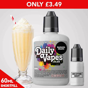 Banana Shake E-Liquid - 60ml Shortfill