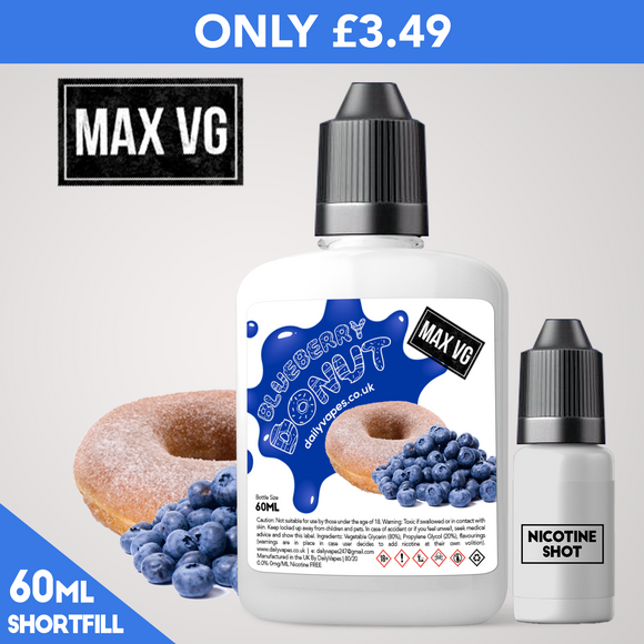 Blueberry Donut Max VG Eliquid - dailyvapes.co.uk