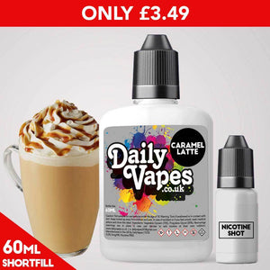 Caramel Latte E-Liquid - 60ml Shortfill