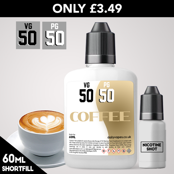 Coffee 50/50 Eliquid - dailyvapes.co.uk