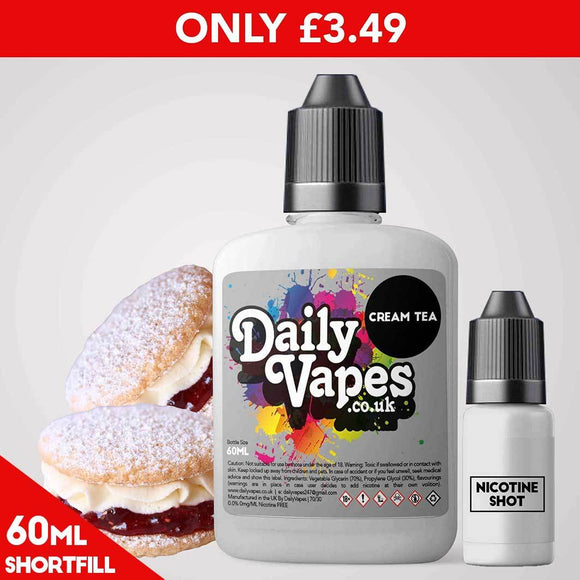 Cream Tea E-Liquid - 60ml Shortfill