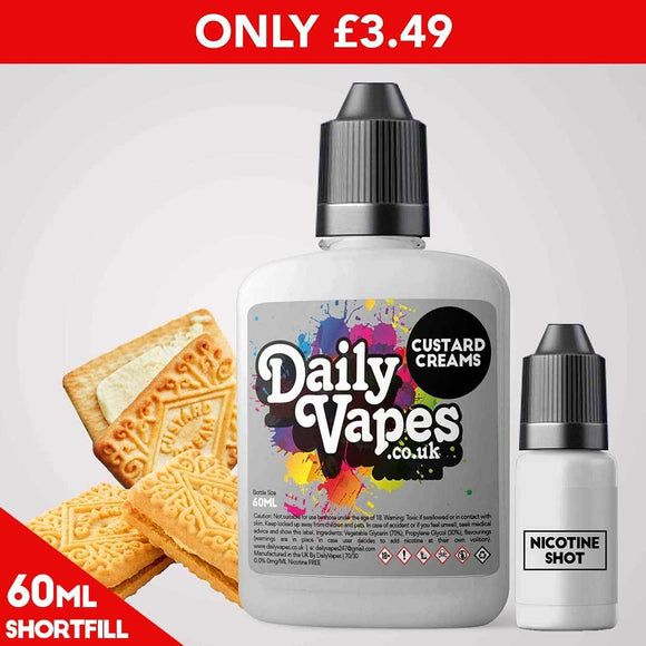 Custard Creams E-Liquid - 60ml Shortfill