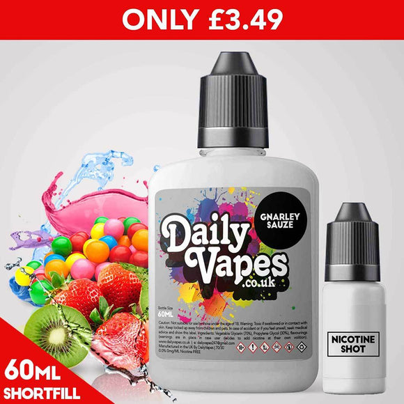 Gnarleysauze E-Liquid - 60ml Shortfill