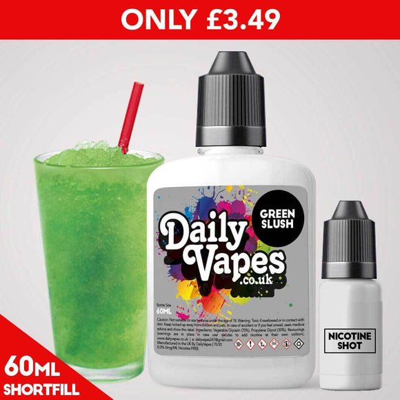 Green Slush E-Liquid - 60ml Shortfill