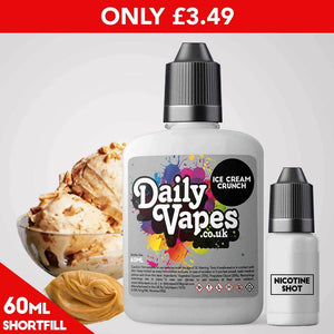 Ice Cream Crunch E-Liquid - 60ml Shortfill