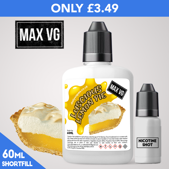 Luscious Lemon Pie Max VG Eliquid - dailyvapes.co.uk