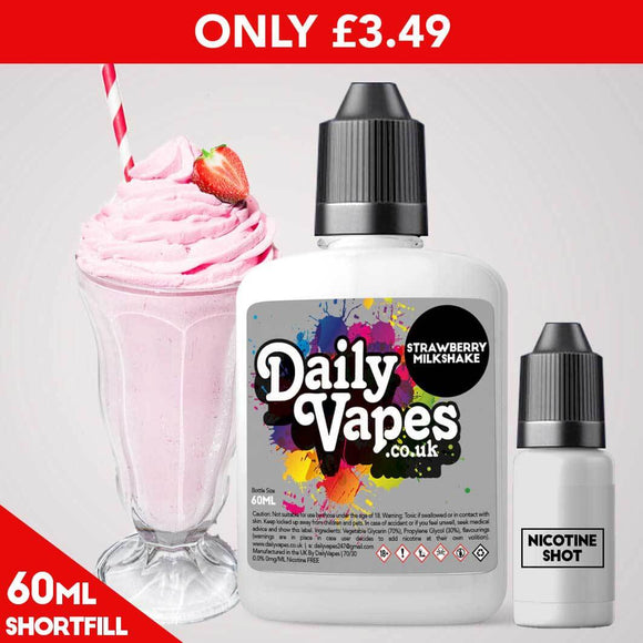 Strawbery Milkshake E-Liquid - 60ml Shortfill