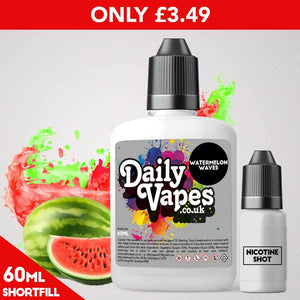 Watermelon Waves E-Liquid - 60ml Shortfill
