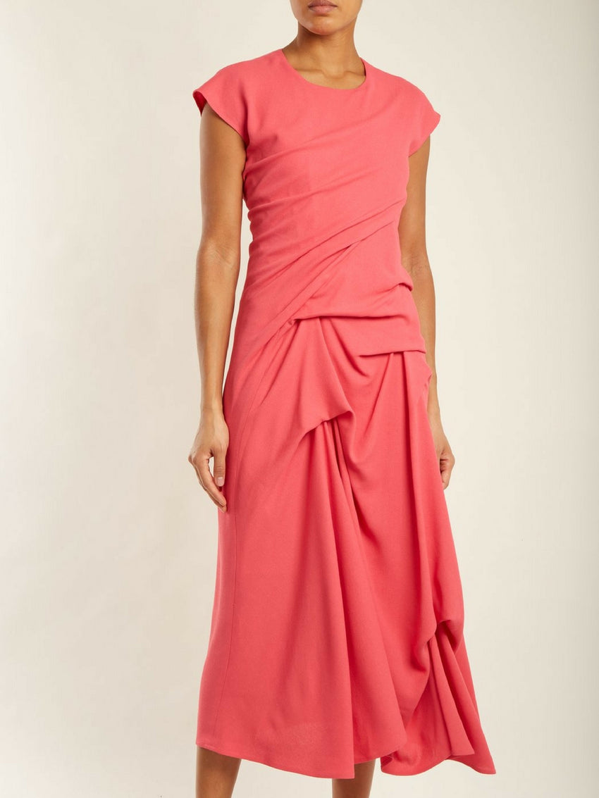 sies-marjan-paloma-ruched-crepe-dress