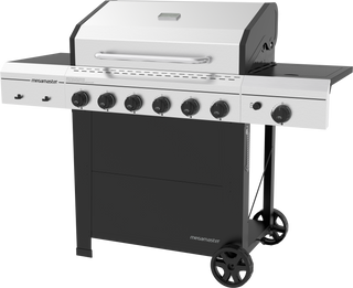 6 Burner Propane Gas Grill with Side Burner