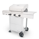 3 Burner Propane Gas Grill in Stainless Steel side closed
