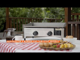 2 Burner Tabletop Griddle Gas Grill