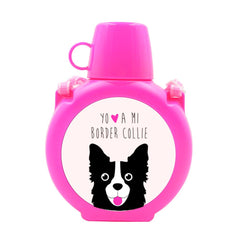 Cantimplora Kids - Border Collie Face Tienda Petfy rosado
