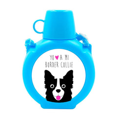 Cantimplora Kids - Border Collie Face Tienda Petfy celeste