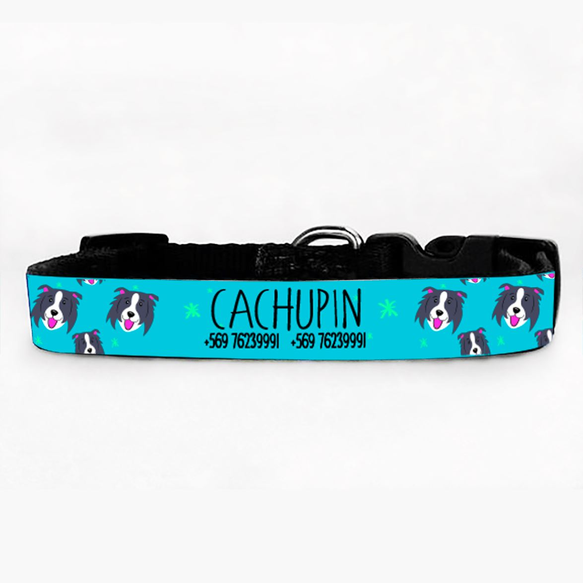 Collar PetLover - Border Collie Grabado 2