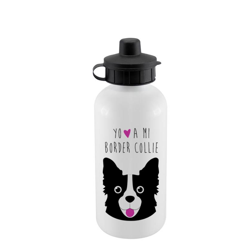 Botella Sport 500cc - Border Collie Face - Tienda Petfy.net