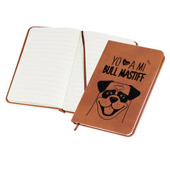 Libreta Mini BULL MASTIFF Tienda Petfy Mini 9x14 Cafe