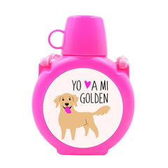 Cantimplora Kids - Golden Retriever Tienda Petfy rosado