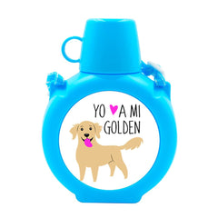 Cantimplora Kids - Golden Retriever Tienda Petfy celeste
