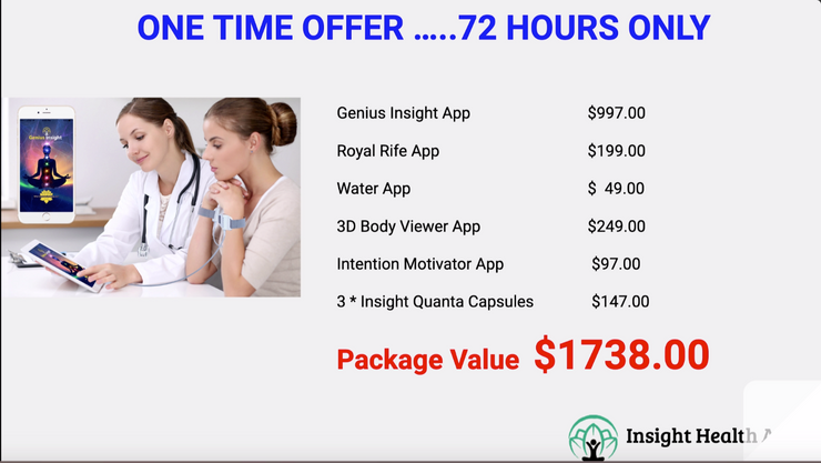 Webinar Special SPECIAL Offer with EXTRA BONUS APPS - INSIGHT HEALTH APPS