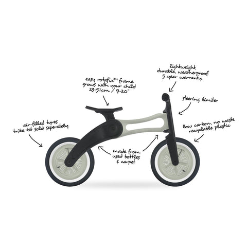 2-in-1 Convertible Bike, RE2 Recycled Edition