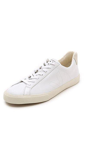 Men's White Esplar Leather Sneakers