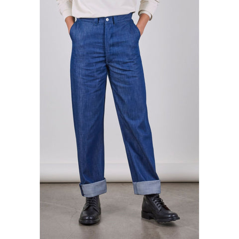 Unisex SW1 Relaxed Trousers, Blue 11oz Italian Denim