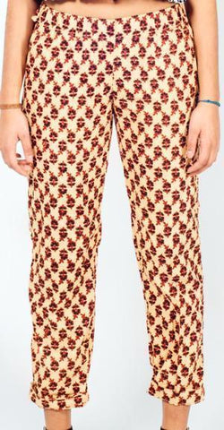 Block Print Slouch Trousers