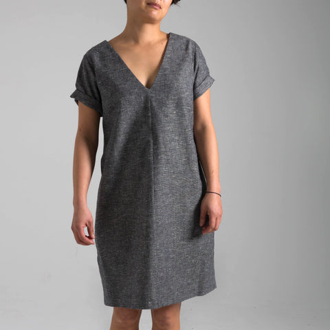 Black & White Varied Stitch Verona Dress