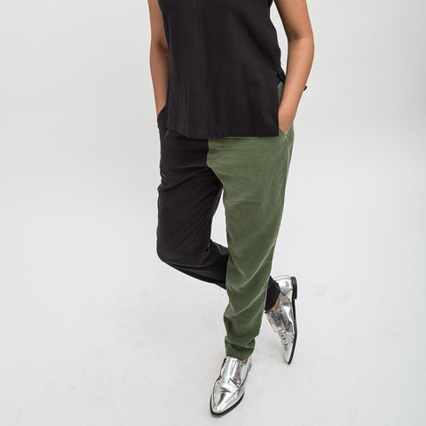 Two-Tone Tencel Broadway Pants