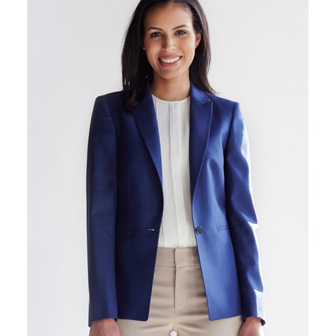 Geneva Luxe Fit Blazer, Royal Navy