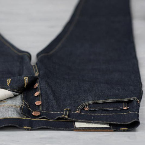 Blackhorse Lane Ateliers UK-Made Lifetime Men's E5 Relaxed Jeans, Indigo Selvedge | BuyMeOnce