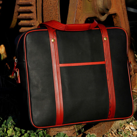 Elvis & Kresse Reclaimed Fire Hose and Printing Blanket Soft Briefcase | BuyMeOnce