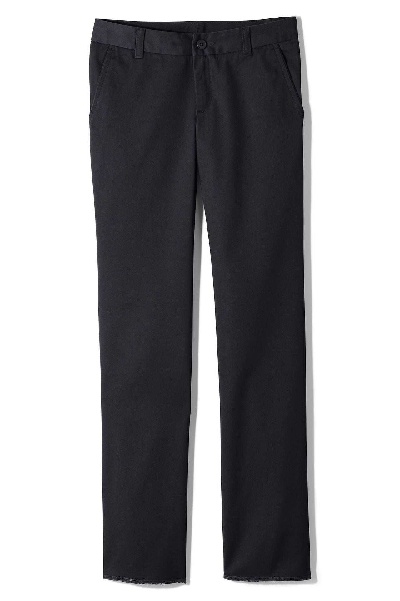 Girls' Plain Front Blend Chinos