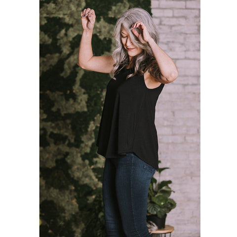 Lauren Scoop Neck Bamboo Top