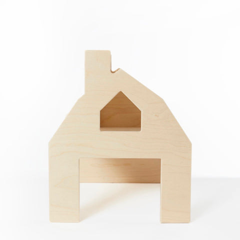 Wooden Barn House and Chair