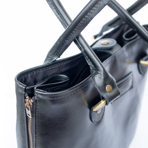 Classic Upcycled Leather Tote