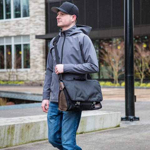 Northwest Upcycled Messenger Bag