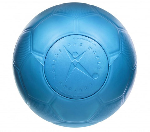 One World Puncture-Proof Soccer Ball, Blue | BuyMeOnce