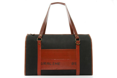 Reclaimed Fire Hose and Parachute Overnight Bag - BuyMeOnce Direct - BuyMeOnce UK