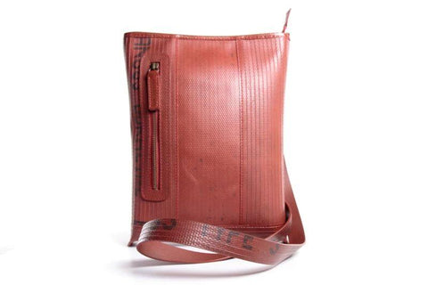 Reclaimed Fire Hose Reporter Bag - BuyMeOnce Direct - BuyMeOnce UK