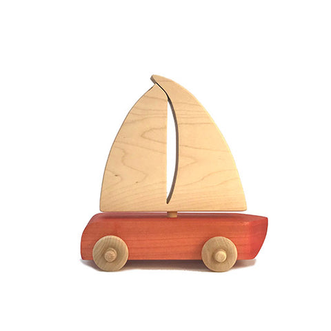 Red Sailboat Toy