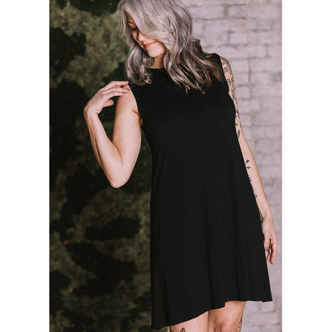 Audrey High Neck Bamboo Dress
