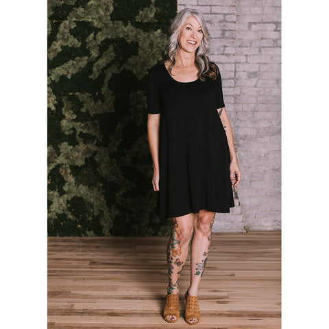 Jennifer Short Sleeved Bamboo Dress