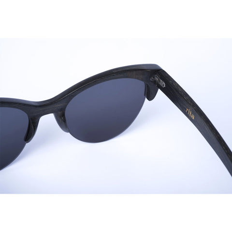 Rita Semi-Rimless Wooden Sunglasses