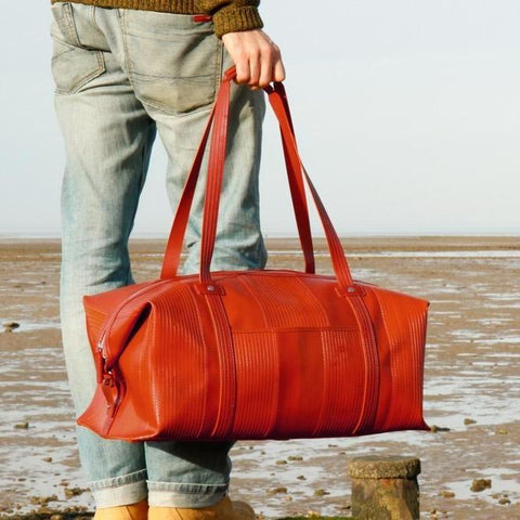 Reclaimed Fire Hose Weekend Bag