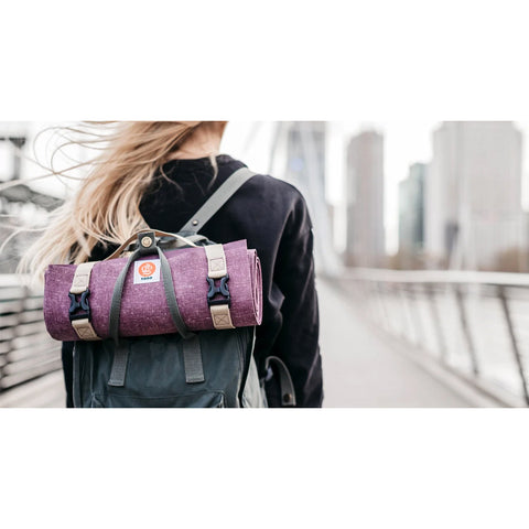 Ultralight Travel Yoga Mat, Plum