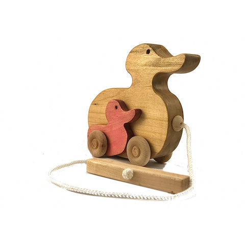 Wooden Duck Pull Toy with Ducklings